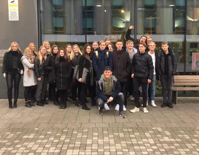 Students from Denmark seminar organized by Internship in the Uk